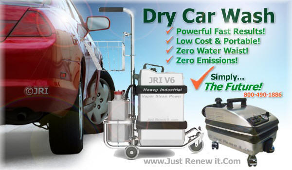 Waterless Car Wash Vapor Systems Steam Cleaner For